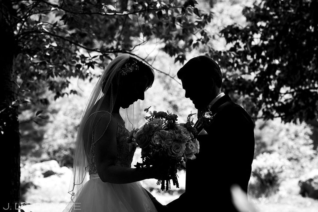 first look between bride and groom at black canyon homestead wedding