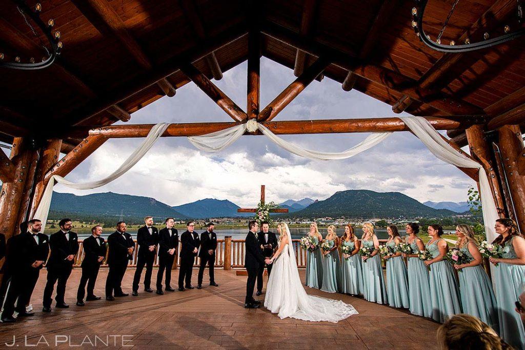 Estes Park Resort wedding ceremony