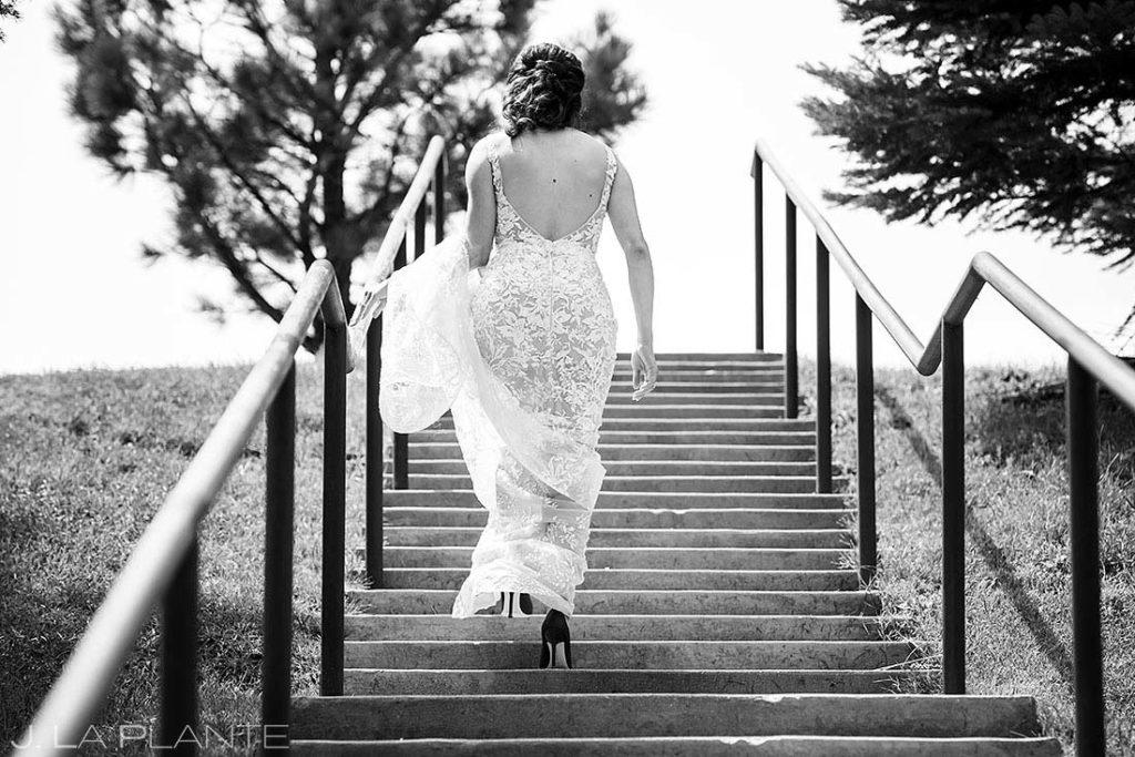 wedding dress at Spruce Mountain Lower Ranch wedding