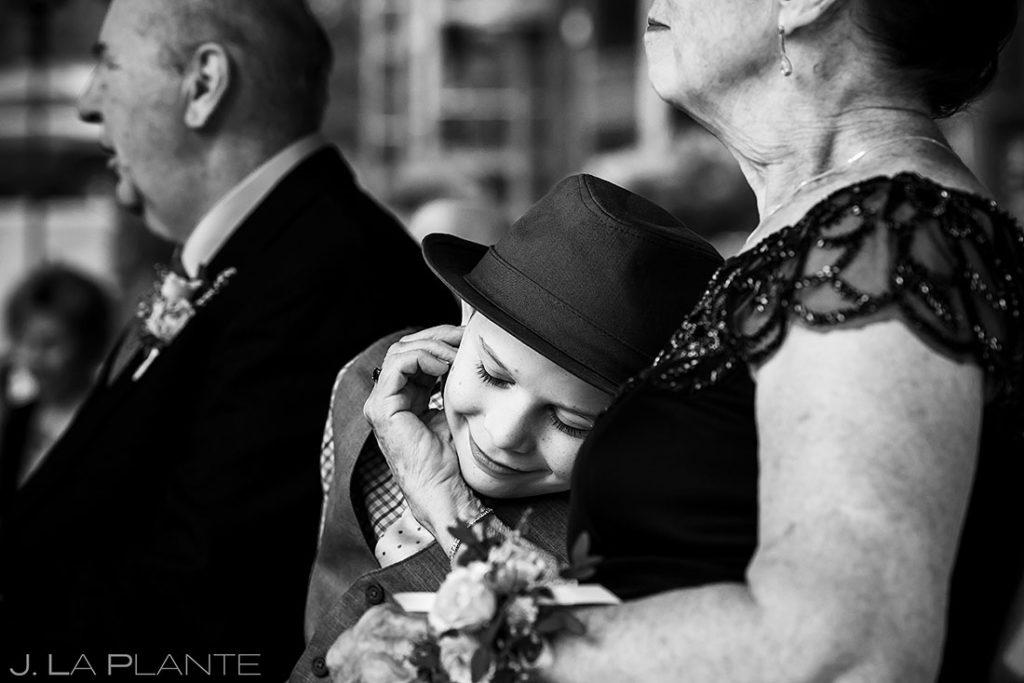 ring bearer moment during wedding ceremony