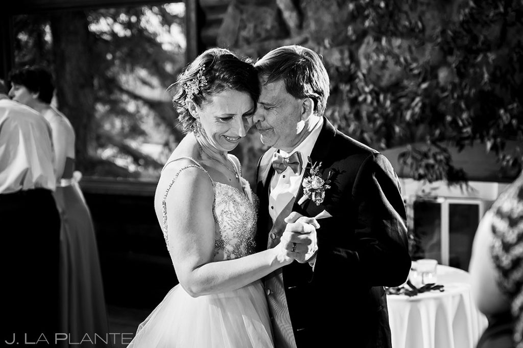 bride and groom first dance at black canyon homestead wedding