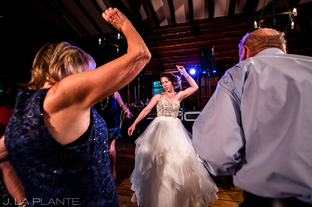 dance party at black canyon homestead wedding
