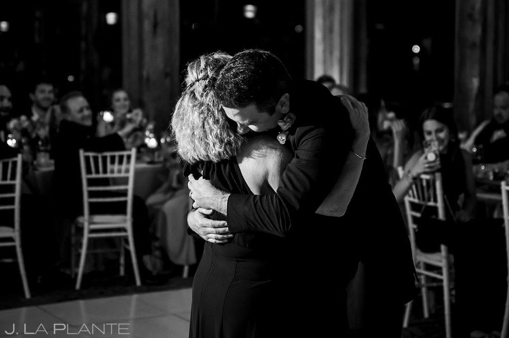 mother son dance at Estes Park Resort wedding reception