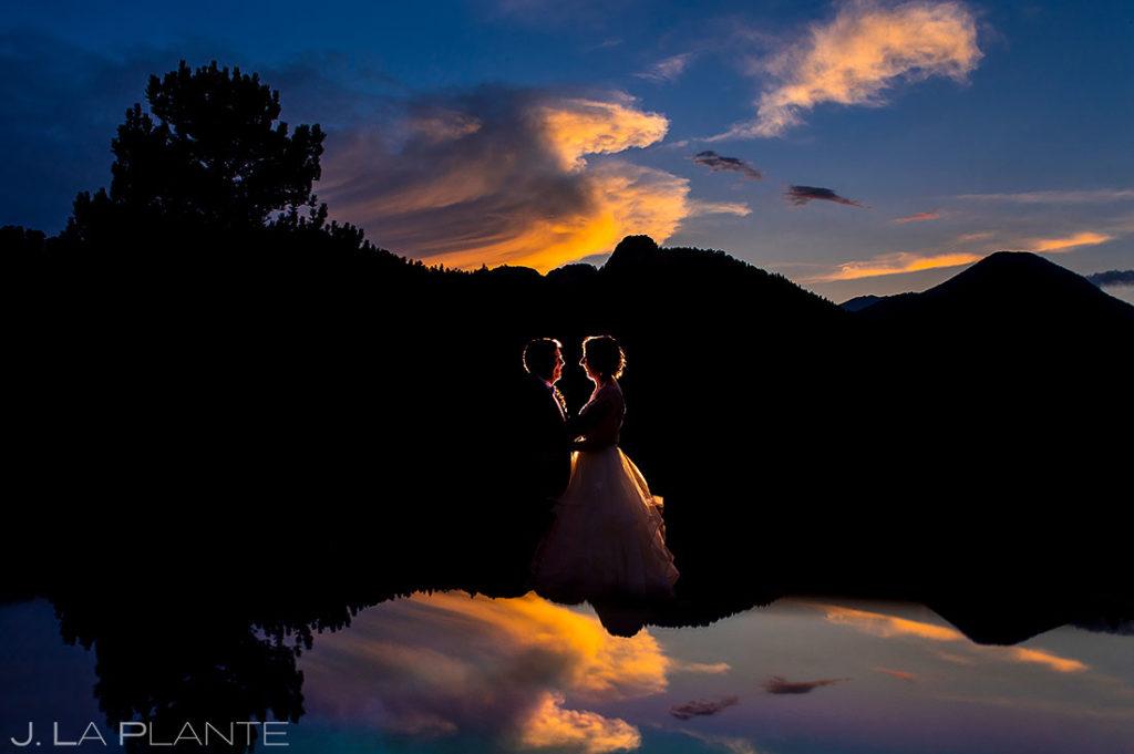 sunset wedding photo at black canyon homestead wedding