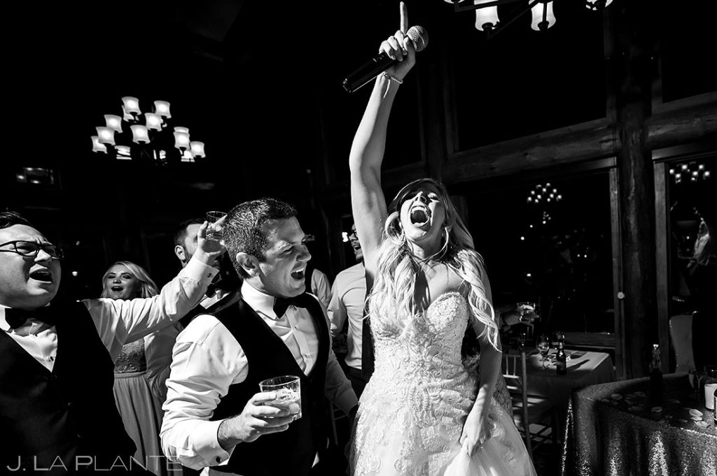 Estes Park Resort wedding reception dance party