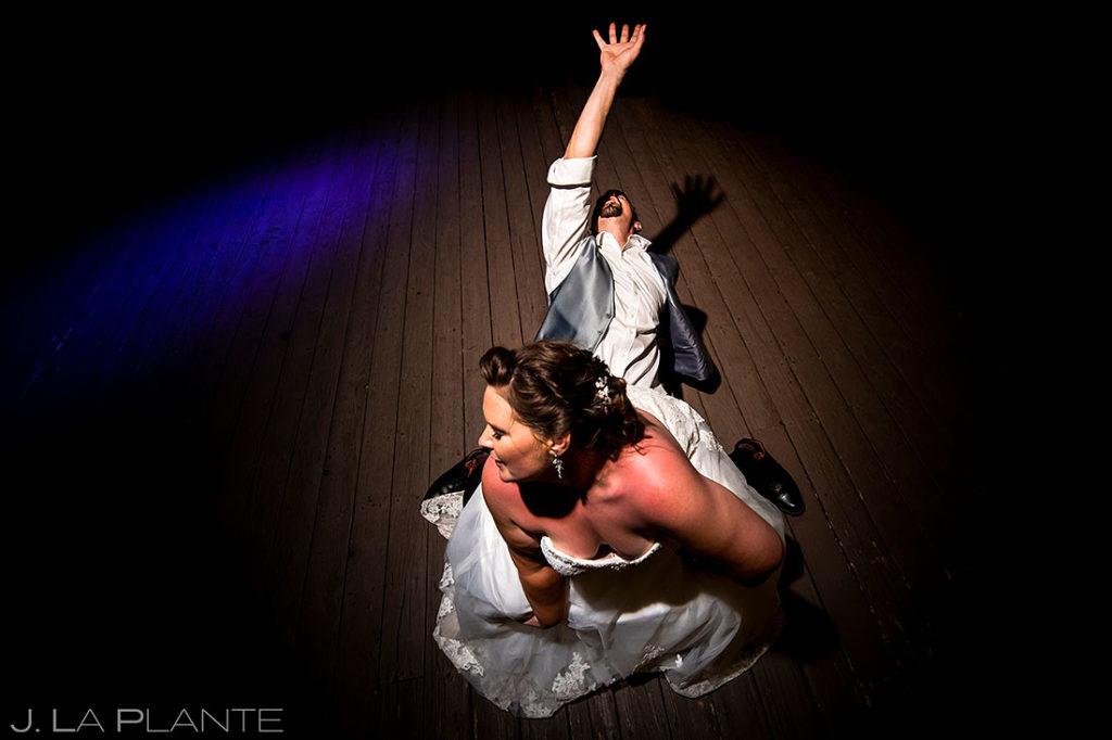 dance party at Eagle-Vail Pavilion wedding