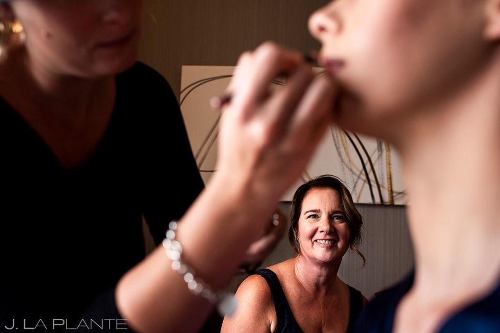 bride getting ready for Greenbriar Inn microwedding