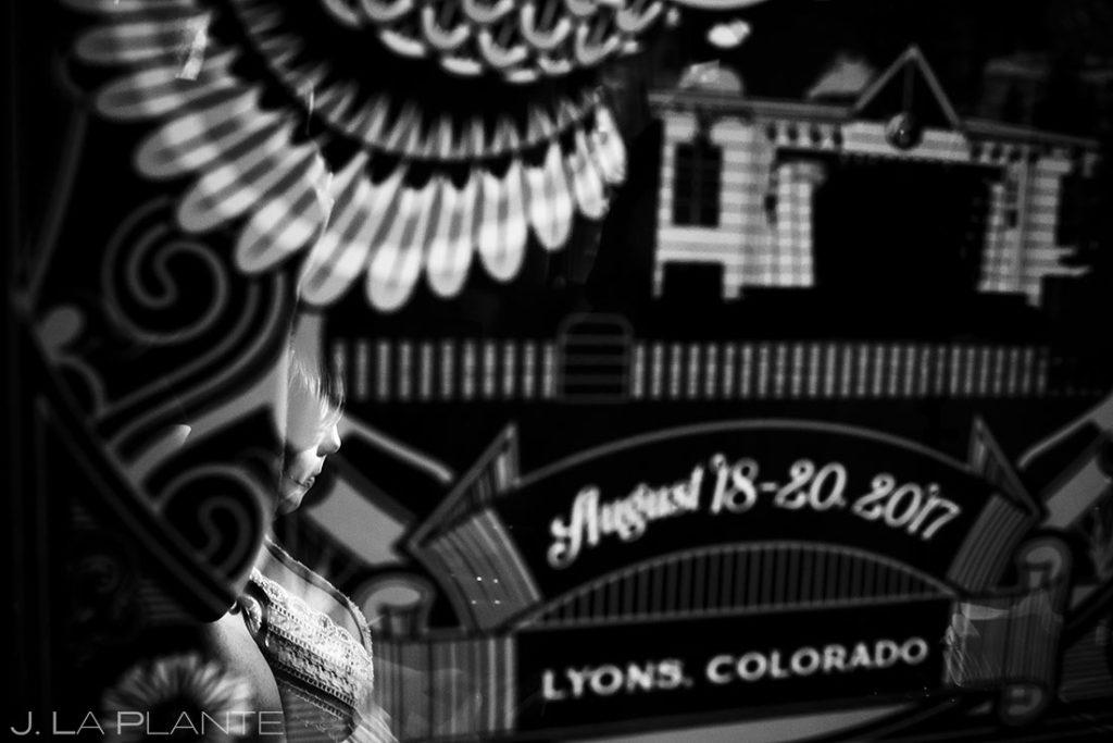 portrait of bride in Lyons, Colorado