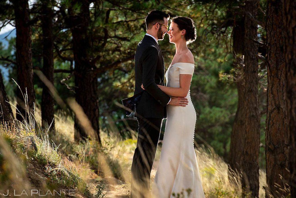 bride and groom portrait at Greenbriar Inn microwedding
