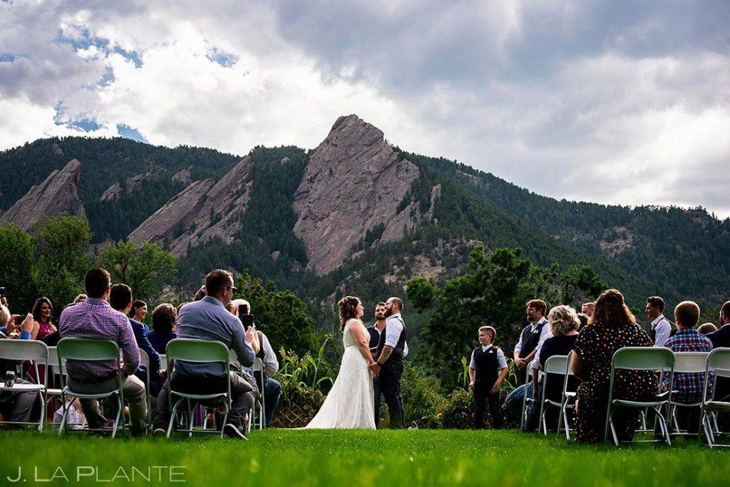 Boulder microwedding ceremony
