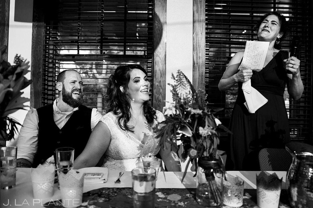 maid of honor toast at Boulder microwedding