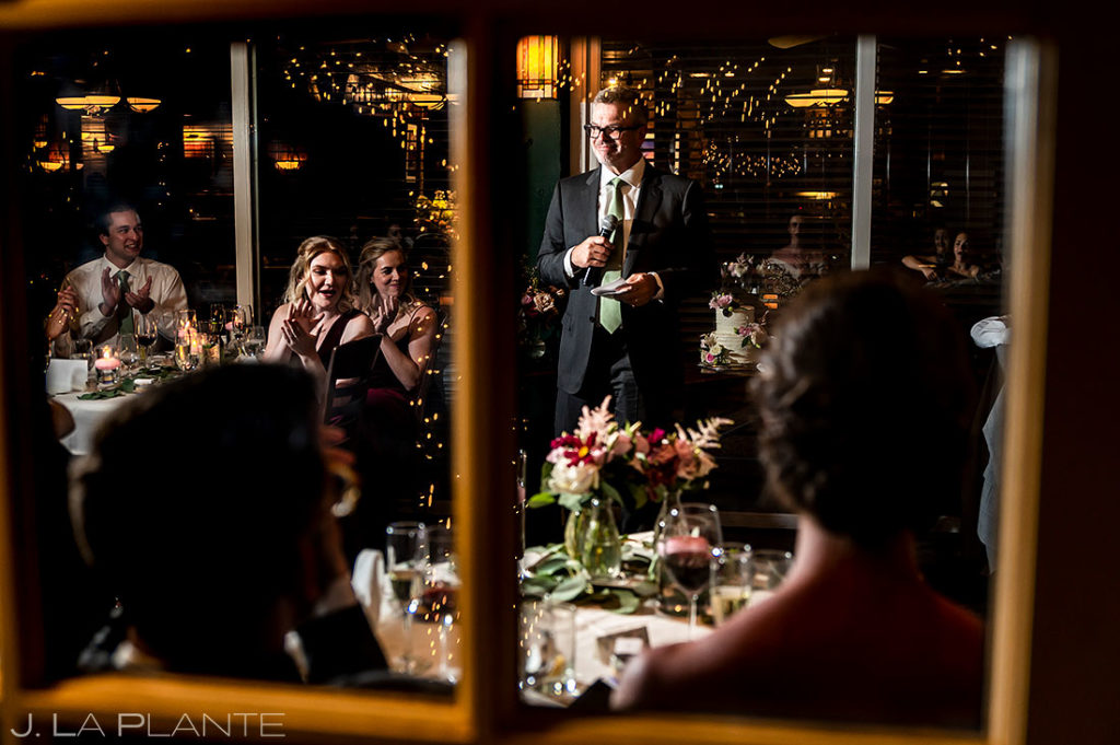 father of the groom toast at Greenbriar Inn microwedding