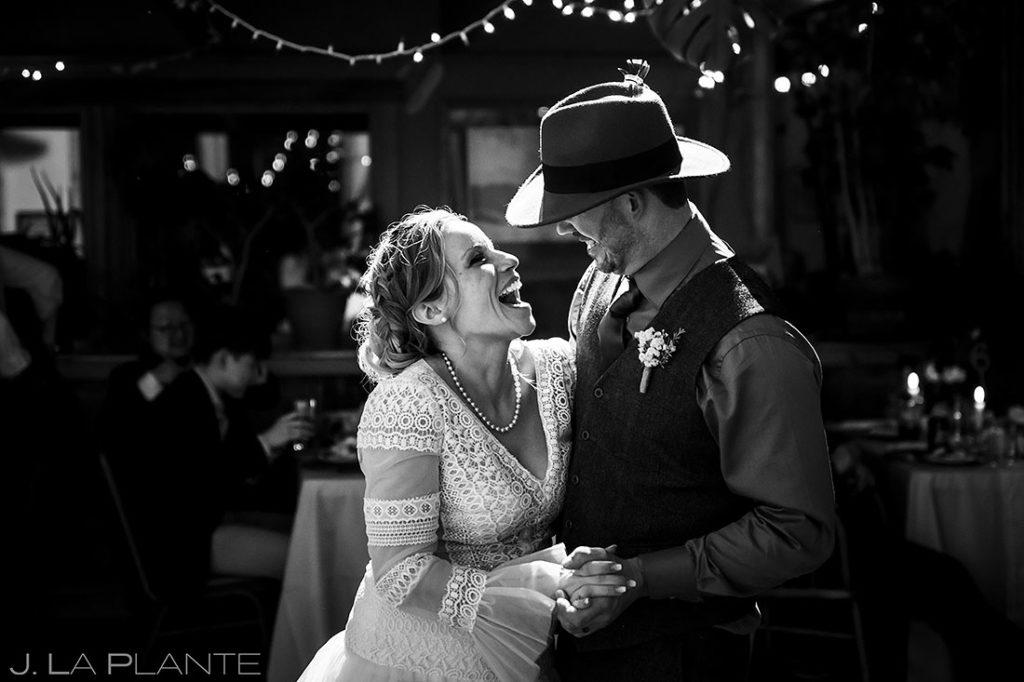 first dance at Montana destination wedding