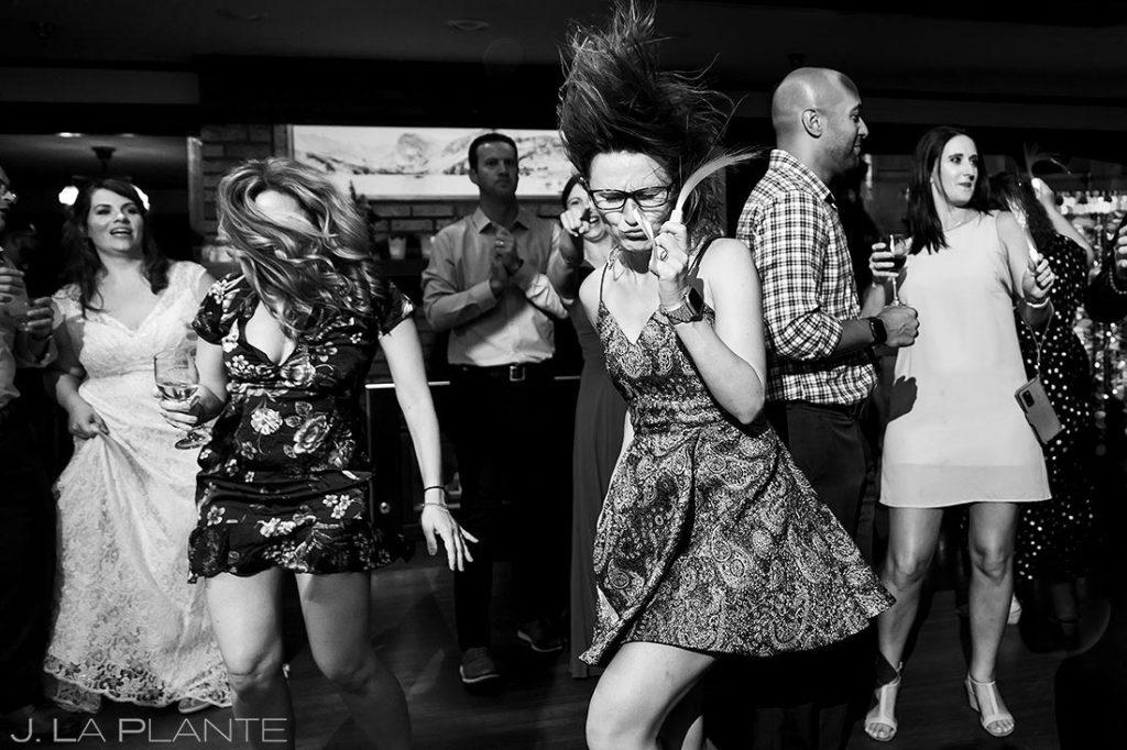 Boulder microwedding reception dance party
