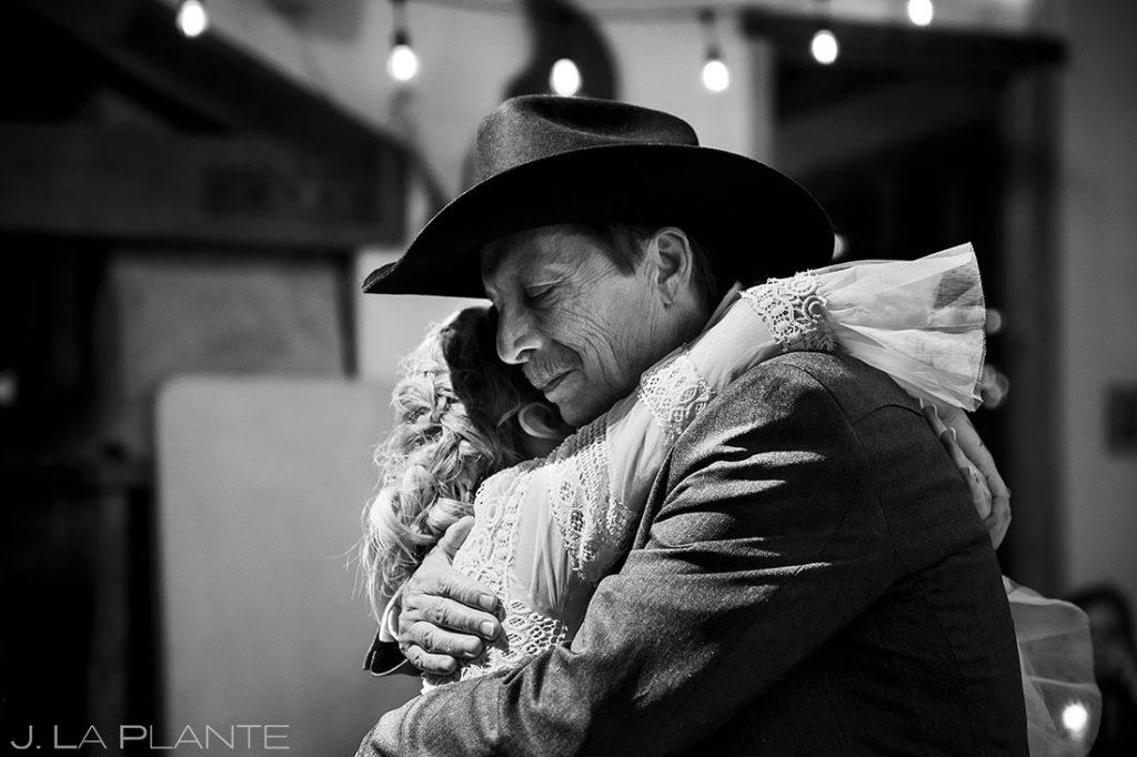 father daughter dance at Montana destination wedding