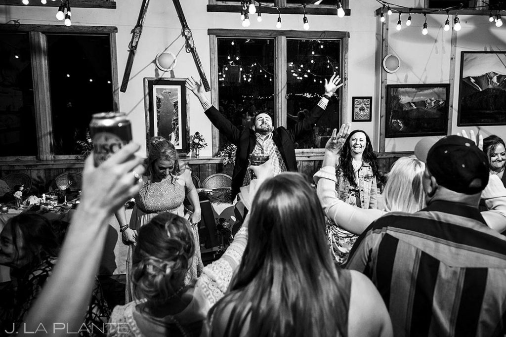 Montana destination wedding reception dance party